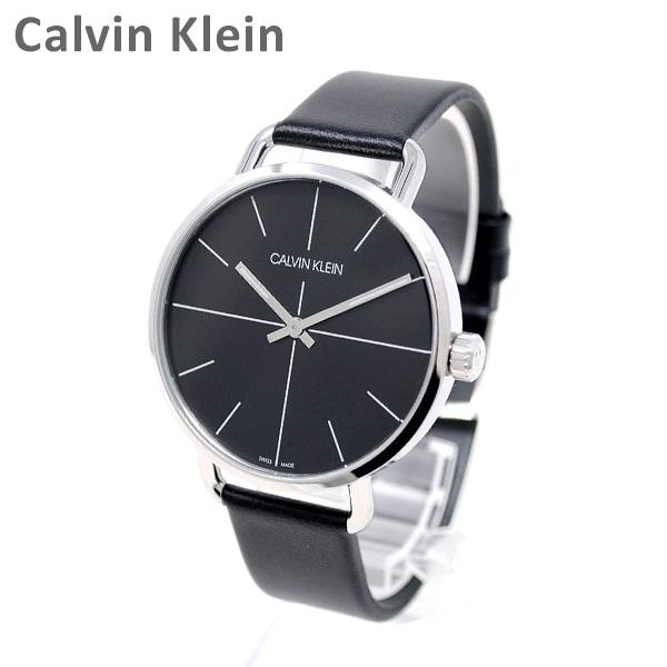 Calvin Klein CK カルバンクライン 時計 腕時計 K7B211CZ EVEN EXTENSION シルバー/ブラック レザー メンズ ウォッチ クォーツ 【送料無料(※北海道・沖縄は1,000円)】