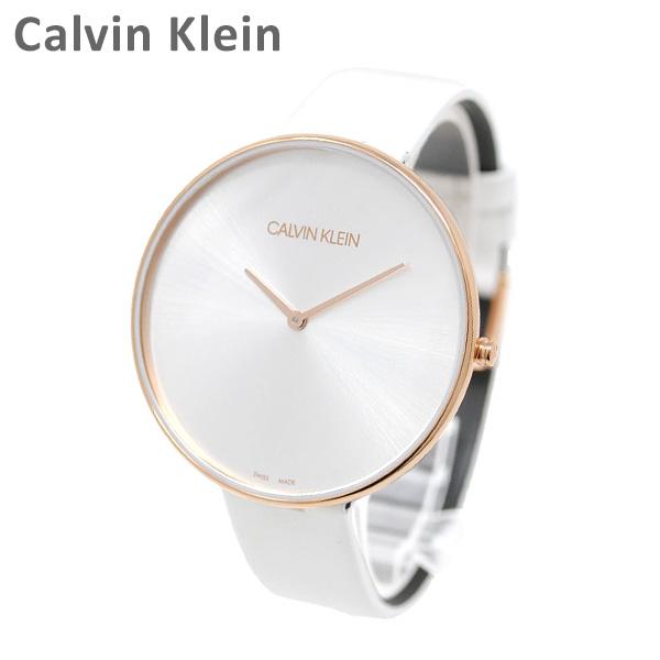 Calvin Klein CK カルバンクライン 時計 腕時計 ウォッチ K8Y236L6 市販 FULL 引き出物 ホワイト クォーツ 送料無料 MOON レディース ピンクゴールド 沖縄は配送不可 ※北海道 レザー