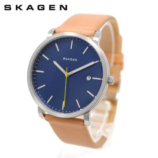 スカーゲン 腕時計 SKW6279 SKAGEN HAGEN 時計 メンズ ウォッチ ブルー/シルバー/ライトブラウン レザー 【送料無料(※北海道・沖縄は1,000円)】