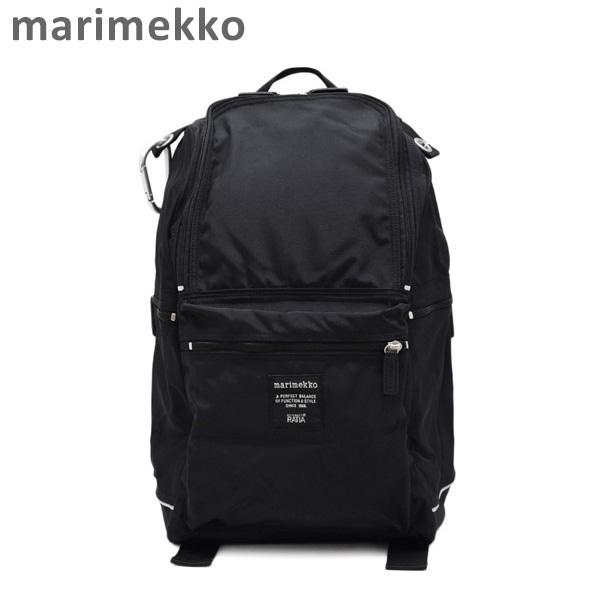 マリメッコ リュック marimekko BUDDY backpack バディ バックパック ブラック 026994-999 バッグ デイパック レディース 【送料無料(※北海道・沖縄は1,000円)】