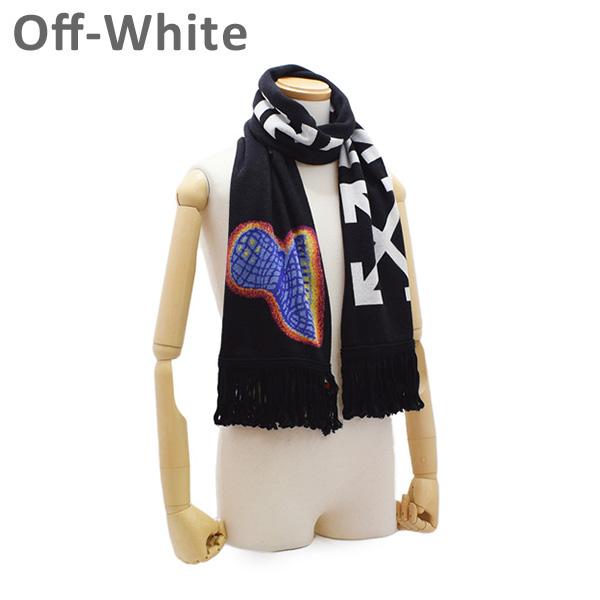 オフホワイト マフラー ブラック/マルチ OMMA001E194070061088 Off-White 【送料無料(※北海道・沖縄は1,000円)】