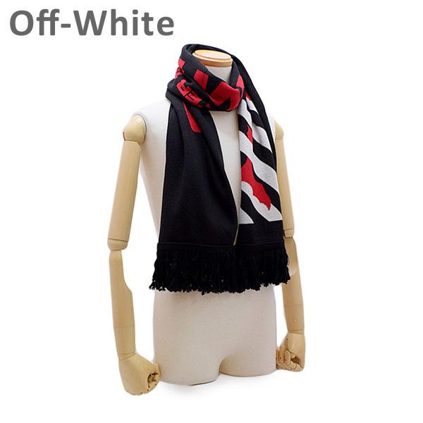 オフホワイト マフラー ブラック/レッド OMMA001E194070071020 Off-White 【送料無料(※北海道・沖縄は1,000円)】