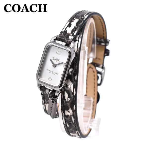 COACH コーチ 腕時計 毎週更新 時計 ウォッチ ブランド レディース 14502778 ラドロー 新発売 ※北海道 LUDIOW パイソン シルバー 沖縄は配送不可 レザー 送料無料