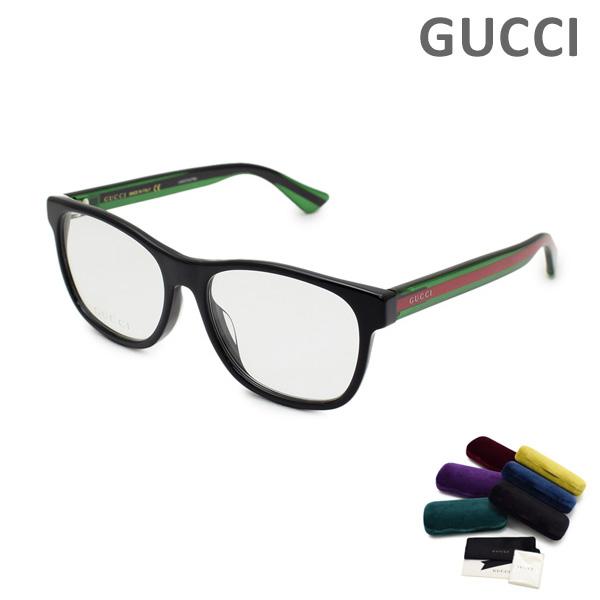 グッチ メガネ 眼鏡 フレーム のみ GG0004OA-002 ブラック/グリーン/レッド メンズ アジアンフィット GUCCI 【送料無料(※北海道・沖縄は1,000円)】