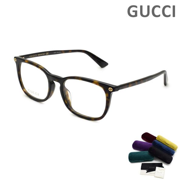 グッチ メガネ 眼鏡 フレーム のみ GG0122OA-002 ハバナ アジアンフィット メンズ GUCCI 【送料無料(※北海道・沖縄は1,000円)】
