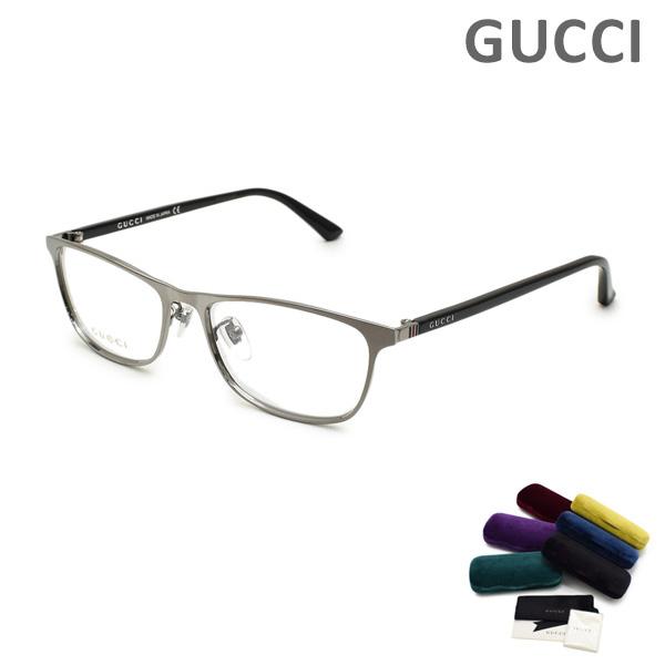 グッチ メガネ 眼鏡 フレーム のみ GG0133OJ-002 ガンメタル/ブラック メンズ レディース ユニセックス GUCCI 【送料無料(※北海道・沖縄は1,000円)】