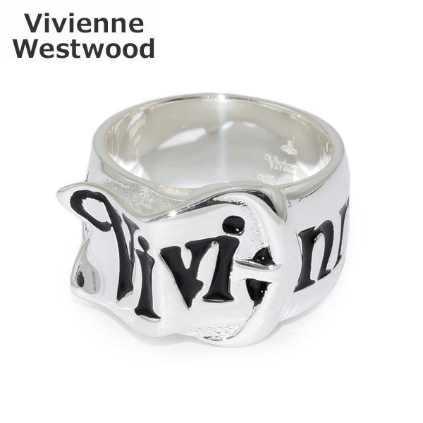 Vivienne Westwood (ヴィヴィアンウエストウッド) 指輪 ベルトリング シルバー/ブラック 64040018-Q101 XS S M アクセサリー メンズ レディース 【送料無料(※北海道・沖縄は1,000円)】