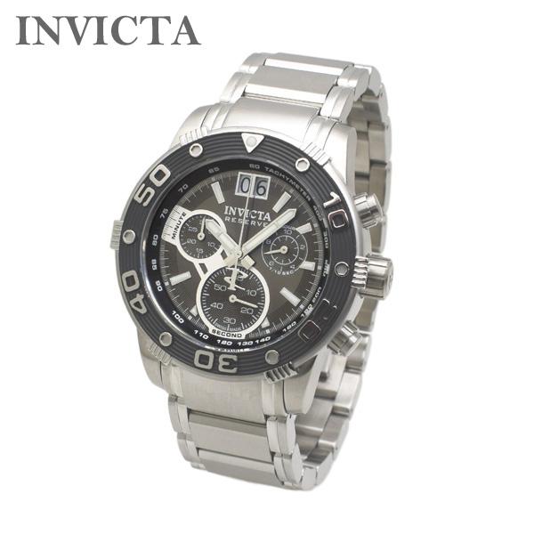 インビクタ 腕時計 INVICTA 時計 10589 Reserve Ocean Speedway リザーブ クロノグラフ ブラック/シルバー ブレス メンズ インヴィクタ 【送料無料(※北海道・沖縄は1,000円)】