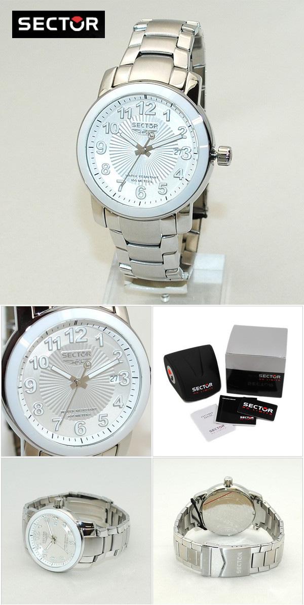 733ce15fd9 SECTOR(セクター)腕時計R3253139045ブレスホワイト/シルバーメンズ時計ウォッチ【送料無料