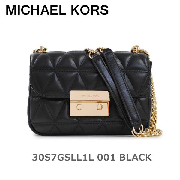 マイケルコース ショルダーバッグ MICHAEL KORS 30S7GSLL1L 001 BLACK レザー レディース 【送料無料(※北海道・沖縄は1,000円)】