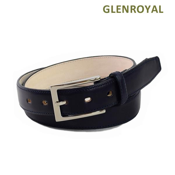 グレンロイヤル ベルト 06-5480 メンズ レザー ネイビー GLENROYAL ボックスなし 海外正規品 【送料無料(※北海道・沖縄は1,000円)】