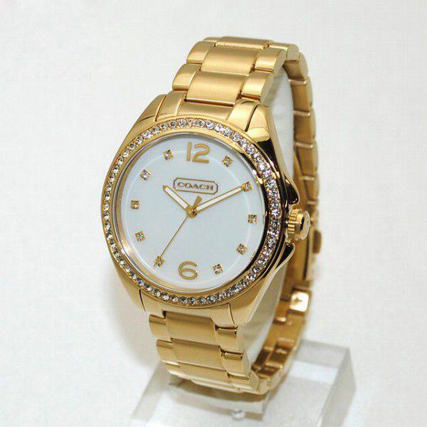 Coach Watch 14501661 Tristen Was Gold White S Las Bracelet