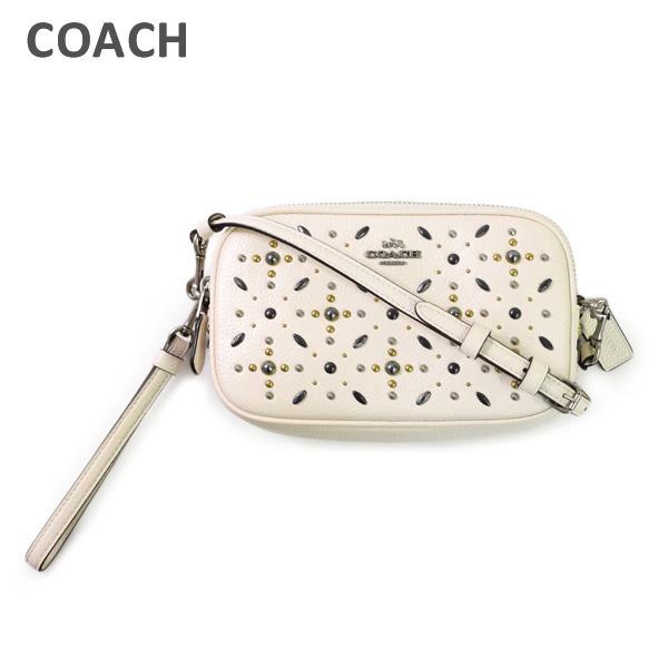 レザー 24406 COACH ポーチ クラッチバッグ ホワイト LHCHK コーチ レディース 【送料無料(※北海道・沖縄は1,000円)】 バッグ
