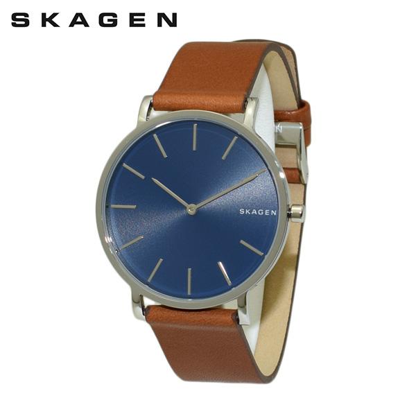 スカーゲン 腕時計 SKW6446 SKAGEN 時計 メンズ ウォッチ ブラウン レザー/シルバー/ブルー 【送料無料(※北海道・沖縄は1,000円)】
