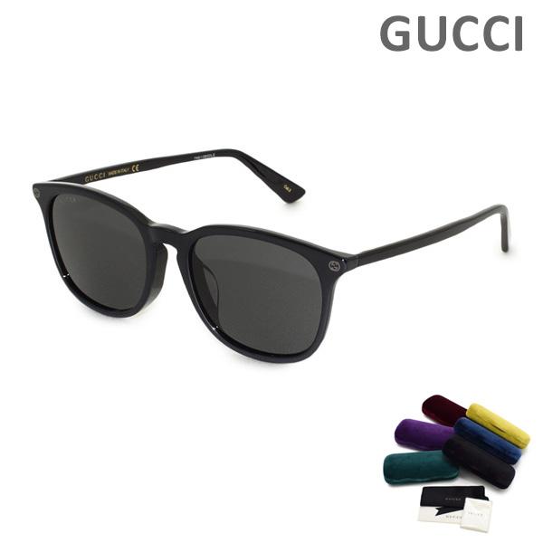 グッチ サングラス GG0154SA-001 Black Black Grey レディース アジアンフィット UVカット GUCCI 【送料無料(※北海道・沖縄は1,000円)】