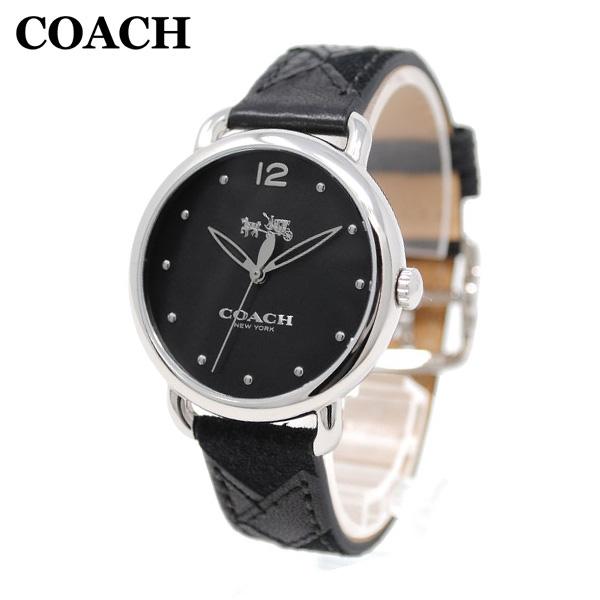 コーチ 腕時計 レディース 14502713 COACH DELANCEY デランシー シルバー/ブラック レザー 時計 ウォッチ 【送料無料(※北海道・沖縄は1,000円)】