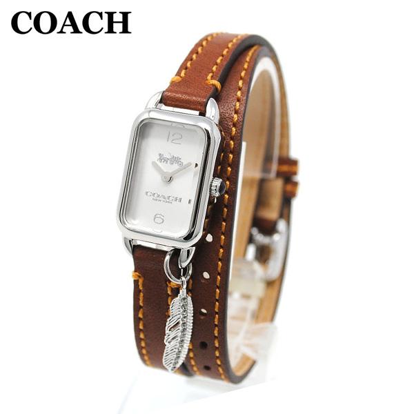 コーチ 腕時計 レディース 14502775 COACH LUDLOW ラドロー シルバー/ブラウン レザー 時計 ウォッチ 【送料無料(※北海道・沖縄は1,000円)】