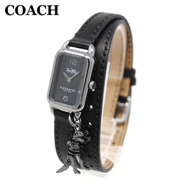 コーチ 腕時計 レディース 14502776 COACH LUDLOW ラドロー シルバー/ブラック レザー 時計 ウォッチ 【送料無料(※北海道・沖縄は1,000円)】