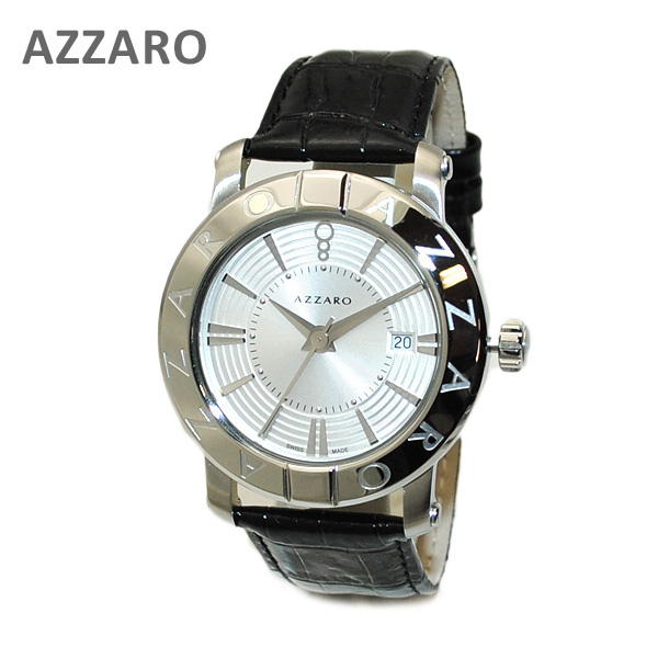 AZARRO (アザロ) 腕時計 AZ3460.12SB.000 Heritage Silver / Black シルバー ブラック 時計 メンズ レザー 【送料無料(※北海道・沖縄は1,000円)】