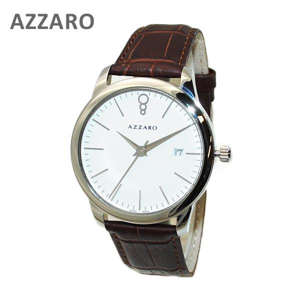 AZARRO (アザロ) 腕時計 AZ2040.12AH.000 New Legend Round White / Havana ホワイト ハバナ ブラウン 時計 レザー 【送料無料(※北海道・沖縄は1,000円)】