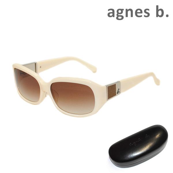 agnes b アニエスベー 限定品 サングラス 眼鏡 めがね メガネ グラサン 国内正規品 b. AB-2788 送料無料 000円 アジアンフィット ※北海道 アイボリー レディース 沖縄は1 OW ブラウングラデーション 新生活 UVカット