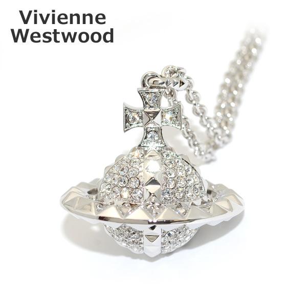Vivienne Westwood (ヴィヴィアンウエストウッド) MT12625/2 MAYFAIR ラージオーブ ペンダント ネックレス シルバー/クリスタル アクセサリー レディース 【送料無料(※北海道・沖縄は1,000円)】