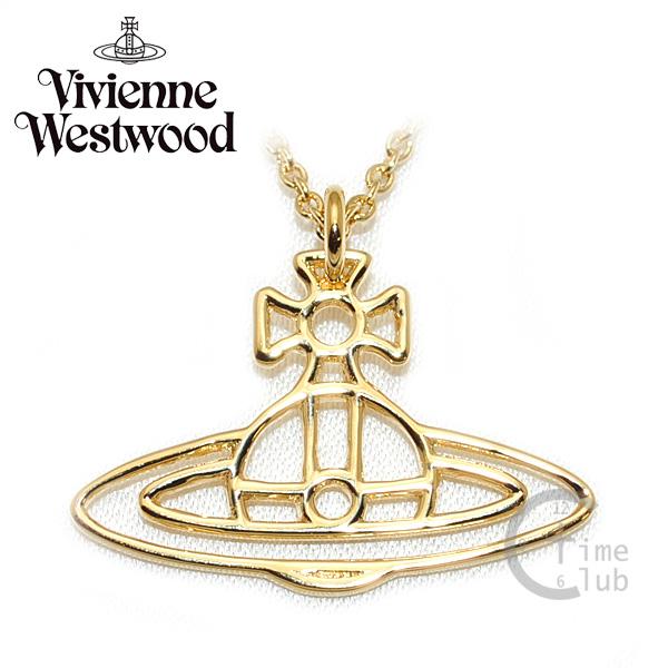 Vivienne Westwood (ヴィヴィアンウエストウッド) ペンダント ネックレス BP60/3 オーブ ゴールド アクセサリー THIN LINES FLAT ORB レディース メンズ レディース 【送料無料(※北海道・沖縄は1,000円)】