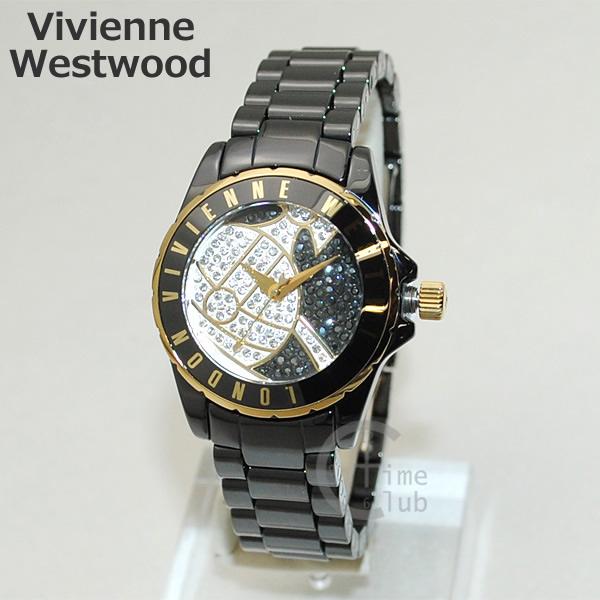 Vivienne Westwood (ヴィヴィアンウエストウッド) 腕時計 VV088SGDBK ブラック/ゴールド ブレス 時計 レディース ヴィヴィアン 【送料無料(※北海道・沖縄は1,000円)】