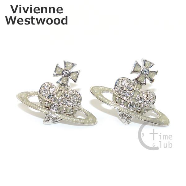 Vivienne Westwood (ヴィヴィアンウエストウッド) ピアス 1351-01-28 シルバー リバースハート アクセサリー レディース 【送料無料(※北海道・沖縄は1,000円)】
