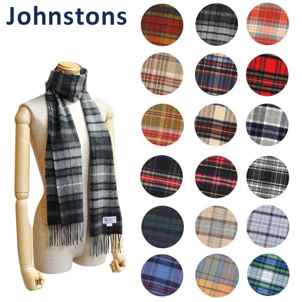 Johnstons ジョンストンズ ストール マフラー カシミア 数量は多 タータンチェック Cashmere Tartans WA000016 沖縄は1 ※北海道 祝日 小判 000円 送料無料 100% レディース メンズ