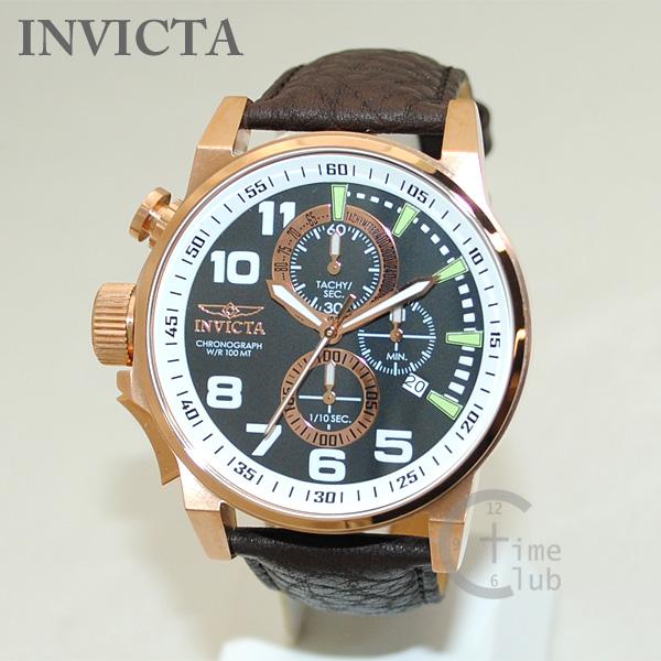 インビクタ 腕時計 INVICTA 時計 13056 Force フォース ブラウン レザー/ローズゴールド メンズ インヴィクタ 【送料無料(※北海道・沖縄は1,000円)】