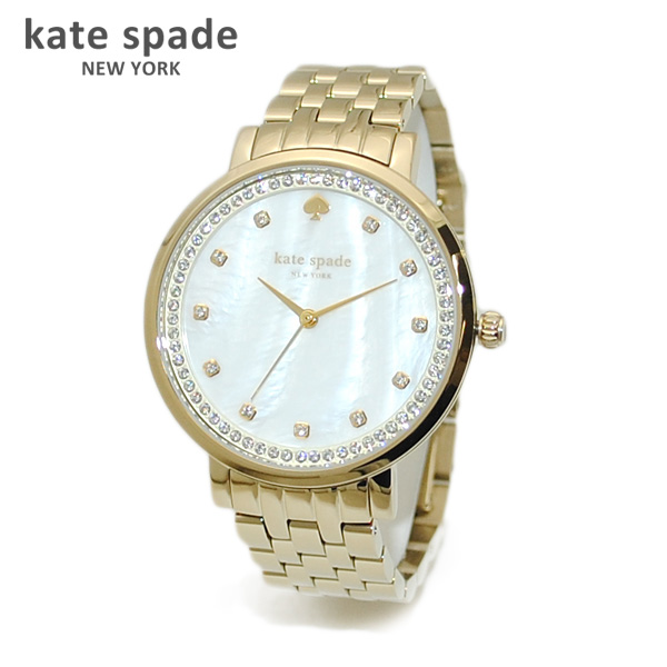 kate spade (ケイトスペード) 時計 腕時計 1YRU0821 ゴールド/ホワイトシェル MONTEREY モントレー ブレス レディース 【送料無料(※北海道・沖縄は1,000円)】