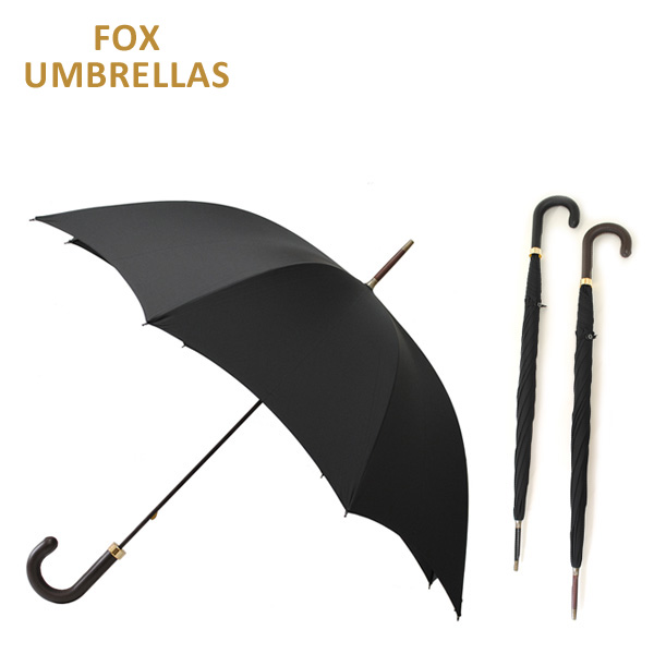 FOX UMBRELLAS (フォックスアンブレラ) 長傘 GT5 レザー BK ブラック 雨具 ブランド傘 メンズ 【送料無料(※北海道・沖縄は1,000円)】