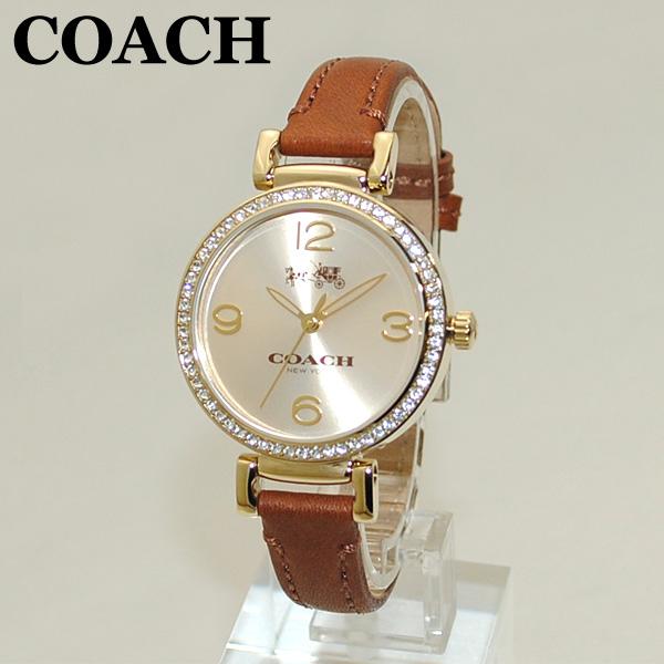 COACH (コーチ) 腕時計 14502650 マディソン ゴールド/ブラウン レザー レディース 時計 ウォッチ 【送料無料(※北海道・沖縄は1,000円)】