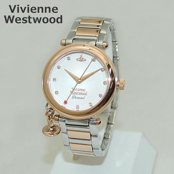 Vivienne Westwood (ヴィヴィアンウエストウッド) 腕時計 VV006SLRS 時計 ピンクゴールド/シルバー コンビ レディース ヴィヴィアン ブレス 【送料無料(※北海道・沖縄は1,000円)】