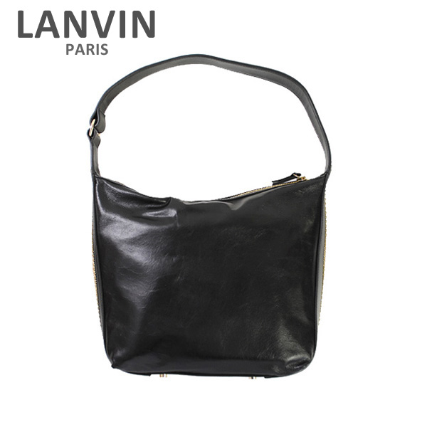 LANVIN PARIS (ランバン パリス) Medium Hobo Bag バッグ LW-BGER00-AGNE-E17 10 BLACK レディース ショルダーバッグ 2017SS 【送料無料(※北海道・沖縄は1,000円)】