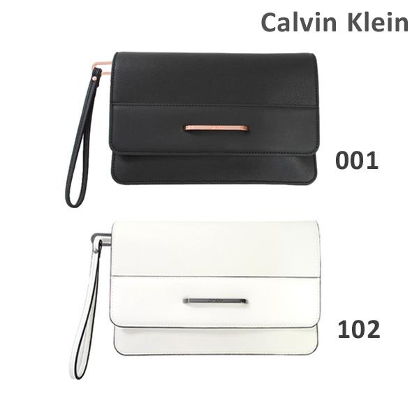 カルバンクライン バッグ Calvin Klein K60K602707 001 ブラック 102 ホワイト クラッチバッグ セカンドバッグ レディース 2017SS 【送料無料(※北海道・沖縄は1,000円)】
