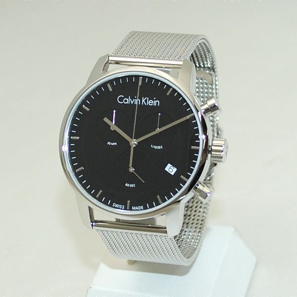 Calvin Klein CK (カルバンクライン) 時計 腕時計 K2G27121 シルバー/ブラック ブレス クロノグラフ メンズ ウォッチ クォーツ 【送料無料(※北海道・沖縄は1,000円)】