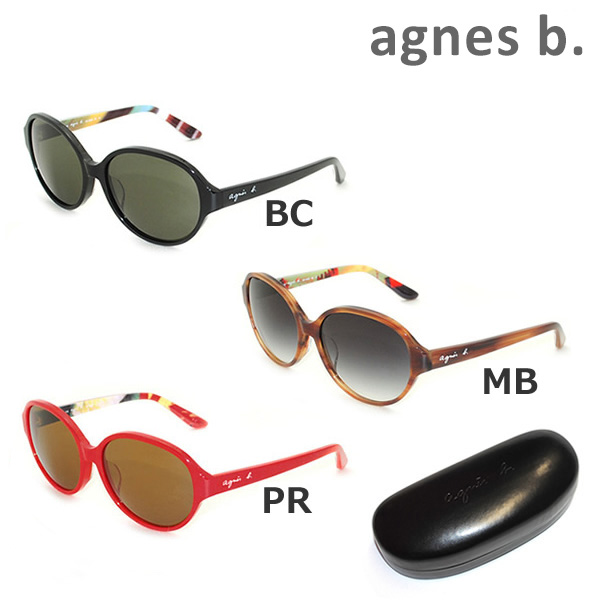 agnes b アニエスベー サングラス 眼鏡 めがね メガネ グラサン 国内正規品 b. AB-2828 000円 沖縄は1 16N アジアンフィット PR 在庫一掃売り切りセール ※北海道 送料無料 BC レディース UVカット MB 安心と信頼