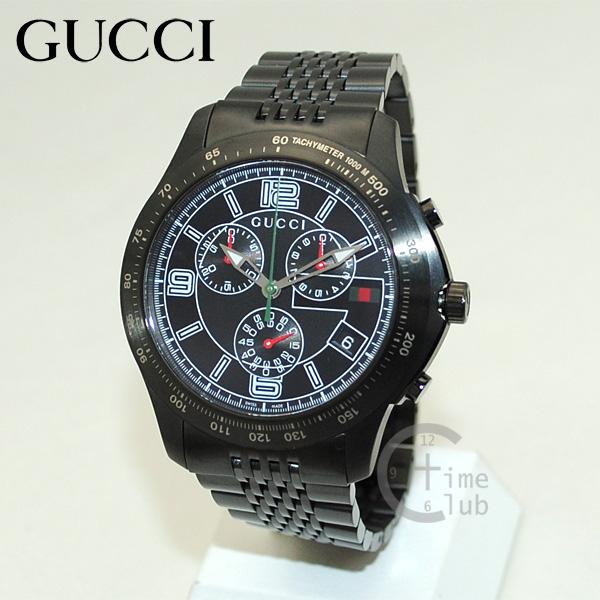 GUCCI(グッチ) 時計 腕時計 YA126217 Gタイムレス クロノグラフ ブラック メンズ ブレス 【送料無料(※北海道・沖縄は1,000円)】