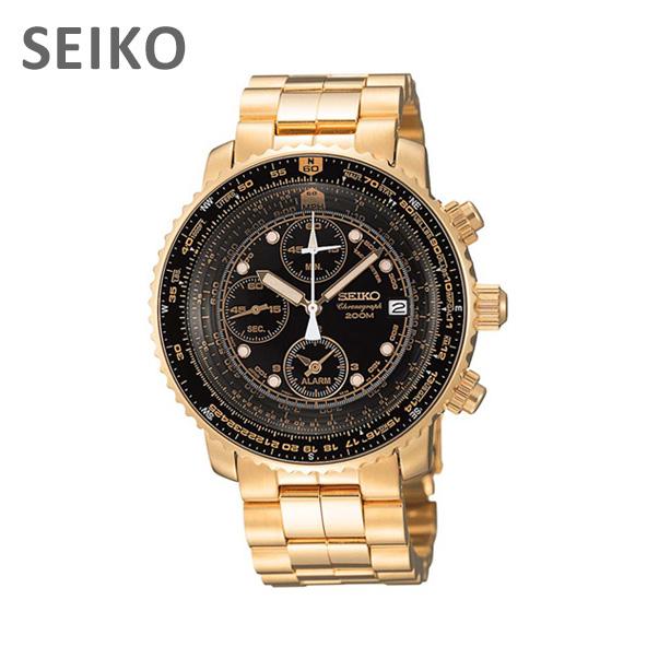 【国内正規品】 SEIKO(セイコー) 時計 腕時計 海外モデル 逆輸入 SNA414PC SNA414P1 クロノグラフ 【送料無料(※北海道・沖縄は1,000円)】