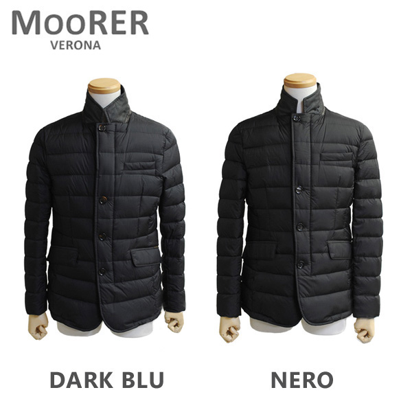MOORER ムーレー ダウンコート ZAYN OP NERO ブラック DARK BLU ダークブルー ダウンジャケット メンズ 【送料無料(※北海道・沖縄は1,000円)】