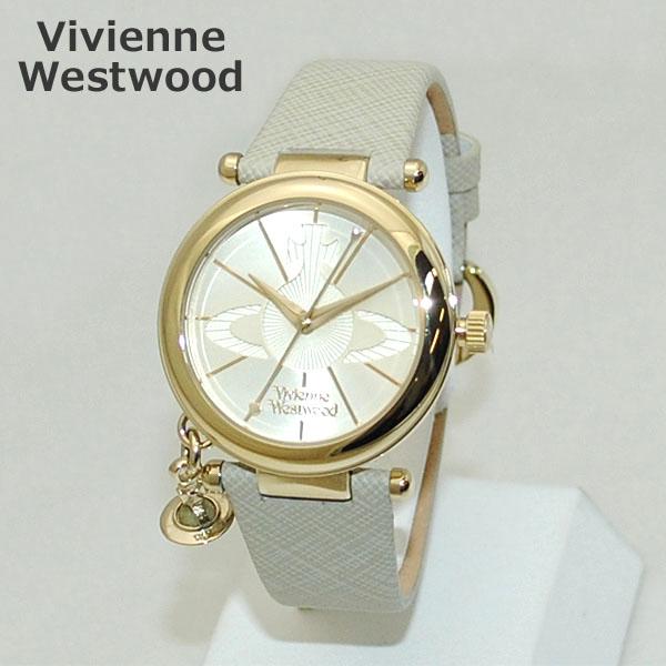 Vivienne Westwood (ヴィヴィアンウエストウッド) 腕時計 VV006GDCM クリーム系 レザー/ゴールド 時計 レディース ヴィヴィアン 【送料無料(※北海道・沖縄は1,000円)】