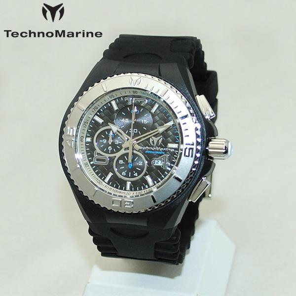 TechnoMarine テクノマリーン 腕時計 TM115110 CRUISE JELLYFISH シルバー/ブラック ラバー ウォッチ テクノマリン 時計 【送料無料(※北海道・沖縄は1,000円)】