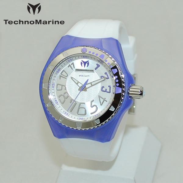 TechnoMarine テクノマリーン 腕時計 TM115223 CRUISE ORIGINAL パープル/シルバー/ホワイト ラバー ウォッチ テクノマリン 時計 【送料無料(※北海道・沖縄は1,000円)】