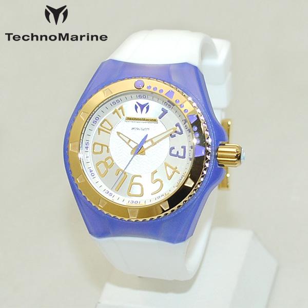 TechnoMarine テクノマリーン 腕時計 TM115226 CRUISE ORIGINAL パープル/ゴールド/ホワイト ラバー ウォッチ テクノマリン 時計 【送料無料(※北海道・沖縄は1,000円)】