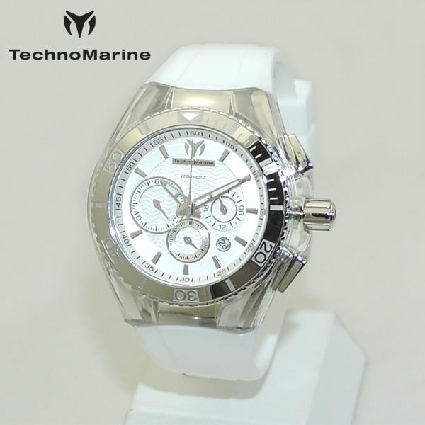 TechnoMarine テクノマリーン 腕時計 TM115041 CRUISE ORIGINAL シルバー/ホワイト ラバー ウォッチ テクノマリン 時計 【送料無料(※北海道・沖縄は1,000円)】