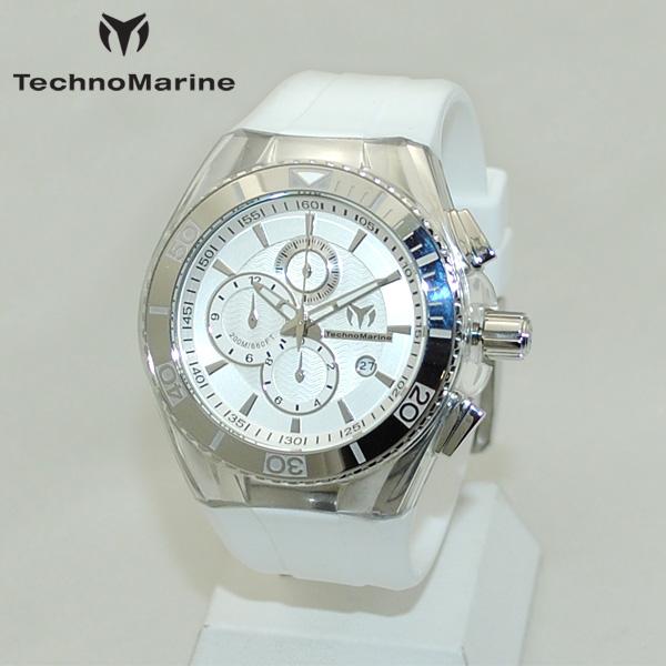 TechnoMarine テクノマリーン 腕時計 TM115043 CRUISE ORIGINAL シルバー/ホワイト ラバー ウォッチ テクノマリン 時計 【送料無料(※北海道・沖縄は1,000円)】