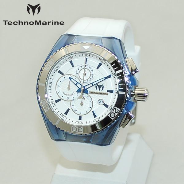 TechnoMarine テクノマリーン 腕時計 TM115052 CRUISE ORIGINAL ブルー/シルバー/ホワイト ラバー ウォッチ テクノマリン 時計 【送料無料(※北海道・沖縄は1,000円)】