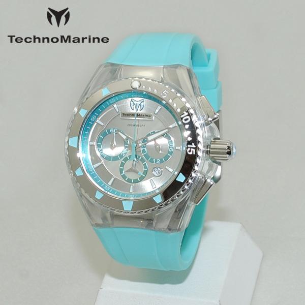 TechnoMarine テクノマリーン 腕時計 TM115170 CRUISE PEARL グリーン系/シルバー/ホワイト ラバー ウォッチ テクノマリン 時計 【送料無料(※北海道・沖縄は1,000円)】
